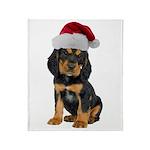 Gordon Setter Christmas Throw Blanket