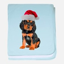 Gordon Setter Christmas baby blanket