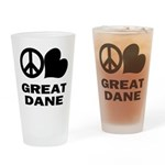 Great Dane Pint Glass