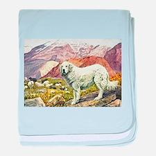 Great Pyrenees Art baby blanket