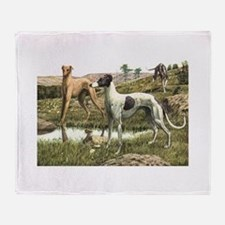 Greyhound Art Throw Blanket