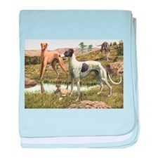 Greyhound Art baby blanket