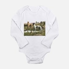Greyhound Art Long Sleeve Infant Bodysuit