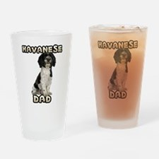Havanese Dad Drinking Glass