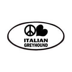 Peace Love Italian Greyhound Patches