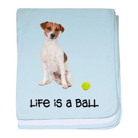Jack Russell Terrier Life baby blanket