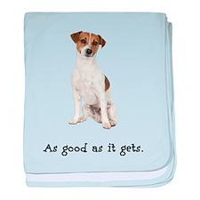 Good Jack Russell Terrier baby blanket