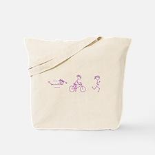 Triathlon Girl Pink No Words Tote Bag
