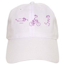 Triathlon Girl Pink No Words Hat
