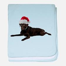 Black Lab Christmas baby blanket