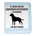 Black Labs In Heaven baby blanket