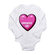 I Love My Chocolate Lab Long Sleeve Infant Bodysui