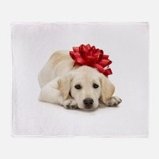 Yellow Lab Puppy Throw Blanket