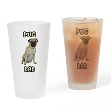 Pug Dad Drinking Glass