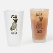 Pug Dad Drinking Glass