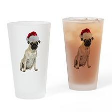 Christmas Pug Pint Glass