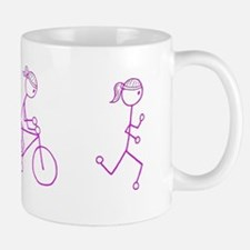 Triathlon Girl Pink No Words Mug