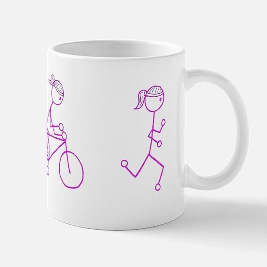 Triathlon Girl Pink No Words Mug