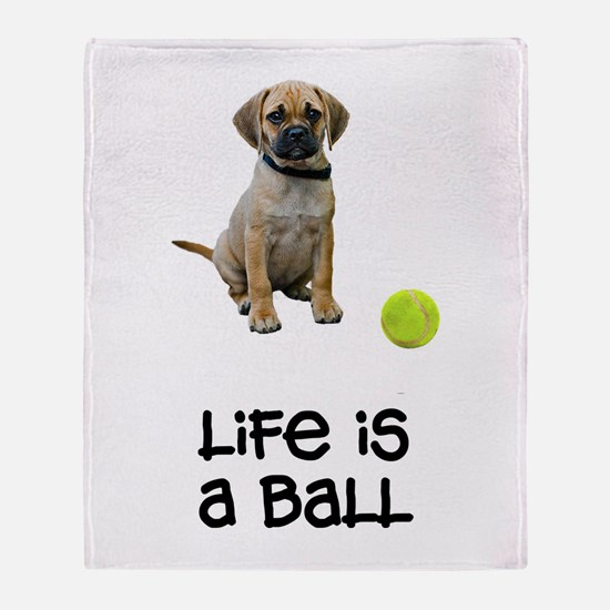 Puggle Life Throw Blanket