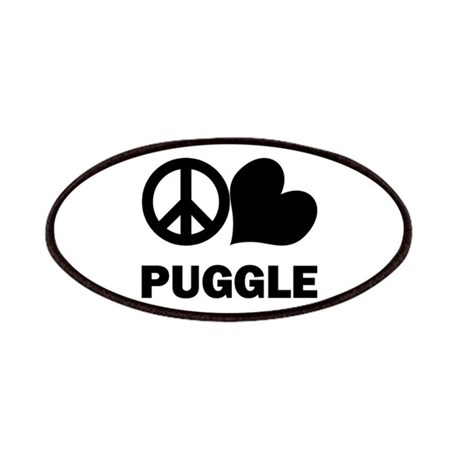 Peace Love Puggle Patches