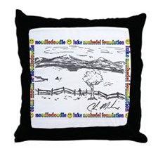 Colin's Noodle Doodle Throw Pillow