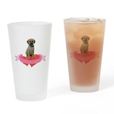 Puggle Valentine Pint Glass