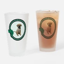 Irish Puggle Pint Glass