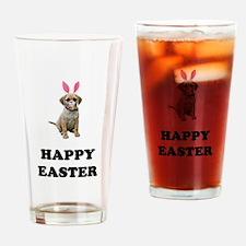 Easter Bunny Puggle Pint Glass