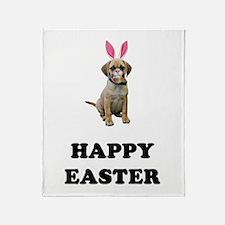Easter Bunny Puggle Throw Blanket