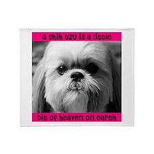 Shih Tzu Heaven Throw Blanket