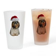 Shih Tzu Christmas Pint Glass