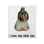 I Love My Shih Tzu Throw Blanket