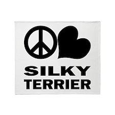 Peace Love Silky Terrier Throw Blanket
