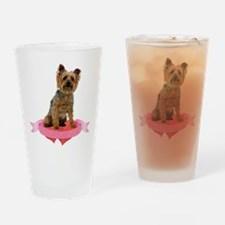 Silky Terrier Valentine Pint Glass