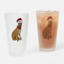Staffie Christmas Pint Glass