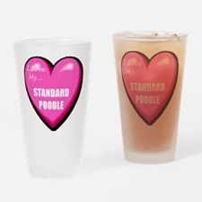 I Love My Standard Poodle Pint Glass