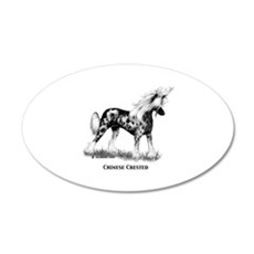 Chinese Crested 22x14 Oval Wall Peel