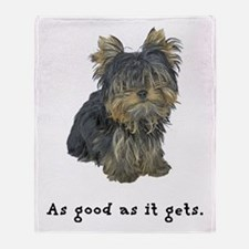 Good Yorkie Throw Blanket