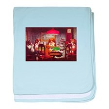 Dogs Playing Poker baby blanket