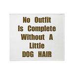 A Little Dog Hair Throw Blanket