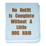 A Little Dog Hair baby blanket