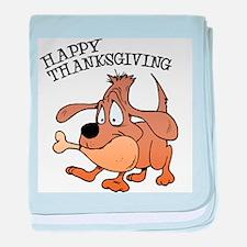 Happy Thanksgiving Dog baby blanket