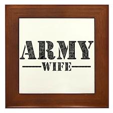 ARMY WIFE Framed Tile