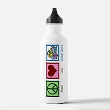 Peace Love Comics Water Bottle