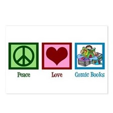 Peace Love Comics Postcards (Package of 8)