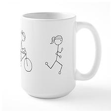 Triathlon Girl Black No Words Mug