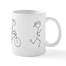 Triathlon Girl Black No Words Small Mug
