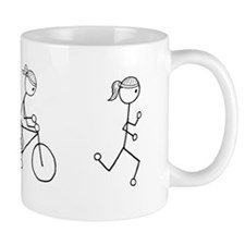 Triathlon Girl Black No Words Small Mug
