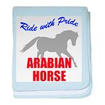 Ride With Pride Arabian Horse baby blanket