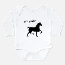 Got Gait Gaited Horse Long Sleeve Infant Bodysuit